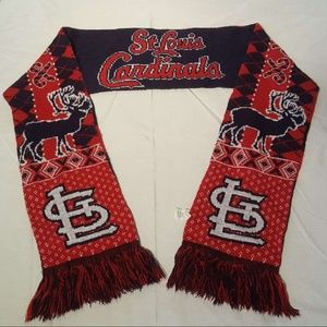 Official St Louis Cardinals CHRISTMAS Scarf Rvrsbl